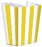 Cajas de Palomitas de Maíz Amarillas - 13cm