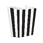 Cajas de palomitas rayadas blanco y negro - 13cm