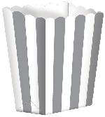 Cajas para Palomitas de Maíz Plateadas-13cm