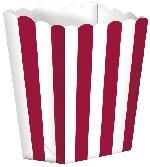 Cajas de palomitas de maíz para buffet de dulces-Color rojo - 13cm