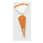Bolsas de celofán en forma de cono para dulces color naranja - 24cm