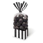 Bolsas de celofán para dulces Negras - 27cm