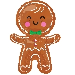 For Happy Gingerbread Man 55cm 78cm