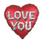32 JUMBO CORAZON ROJO SATIN LUXE LOVE