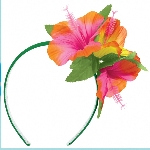 Vincha con Flor Hibisco Hawaiana