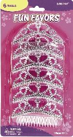 Tiaras Metálicas Plateadas de Princesa 11cm
