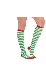 Acc. Disfraz Adulto Green Striped Calcetines