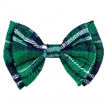 TIE BOW ST PATRICKS DAY PLAID