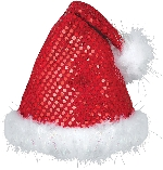 Acc. Disfraz Adulto Sequinned Santa gorro