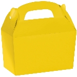 Caja Sunshine Yellow Gable 12cm w x 6.3cm l x 11cm d