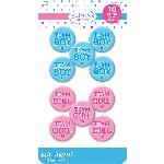 Medallas Botón para Revelar Sexo del Bebé