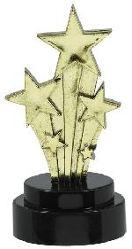 Mini Trofeo de Estrellas - Plástico 10cm
