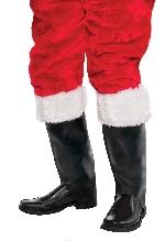 Cubiertas para botas de papá Noel - Accesorio de Navidad para hombre - Una talla para adulto