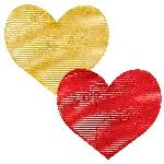 Corazones de Aluminio Corrugado - Decoración San Valentín
