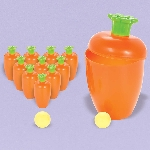 Juego de Bowling Bolos con Forma de Zanahoria Semana Santa