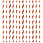 Pajitas de papel rayas naranjas