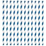 Pajitas de papel con rayas azul marino