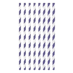 Pajitas de papel a rayas moradas