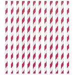Pajitas de papel rayas manzana roja
