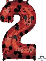 Forma Numero 2 Rojo Mickey 65cm