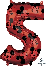 Forma Numero 5 Rojo Mickey 65cm
