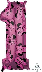 Forma Numero 1 Rosa Minnie 65cm