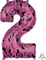 Forma Numero 2 Rosa Minnie 65cm