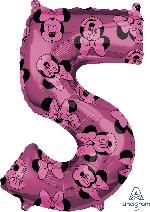 Forma Numero 5 Rosa Minnie 65cm