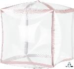 Cubez Transparente Filo Rosa Dorado