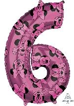Forma Numero 6 Rosa Minnie 65cm