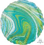 18/45cm Circulo Marblez Azul-Verde