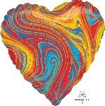 18/45cm Corazon Marblez Multicolor