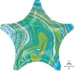 19/48cm Estrella Marblez Azul-Verde