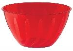 Cuenco con espiral de color rojo - Plástico de 0,7 litros