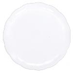 Bandeja redonda blanca-30m plástico