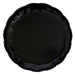 Bandeja redonda negra-30cm de plástico