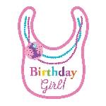 Babero 1er Cumpleaños Arcoíris para Niña