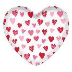 Bandeja de plástico en forma de corazón - Decoración Fiesta San Valentín