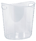 Inflable Clear Plastic Ice Bucket 22 x 24 x 19cm