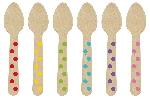Mini Cucharas de Madera Colores del Arcoiris-10,6cm