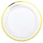 Platos Gold Trim Premium Plastic Plates 30cm