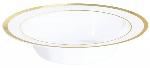 Bols plásticos blancos premium - 340ml con borde dorado