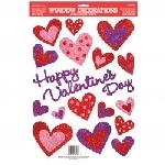 Corazones pegatinas de San Valentín con Purpurina para Ventana