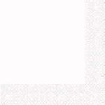 Servilletas de cóctel en blanco - Cuadradas doble capa de papel 25cm