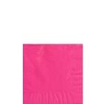 Servilletas de cóctel rosa fucsia- Cuadradas doble capa 25cm