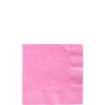 Servilletas para cóctel rosa claro-Cuadradas doble capa 25cm