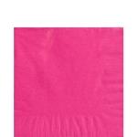 Servilletas de Bebida Fucsia - 2 capas de papel cuadradas 25cm