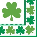 SERV/MED 33X33: LUCKY SHAMROCKS
