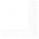 Servilletas blancas-Cuadradas doble capa de papel 33cm