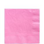 Servilletas para cóctel rosa claro- Cuadradas doble capa de papel 33cm